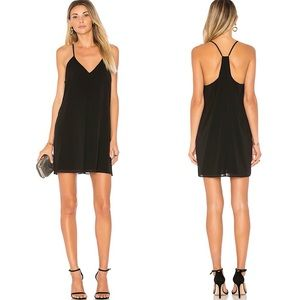 Alice & Olivia Black Fierra Y Silk Tank Mini Dress